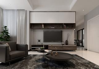 90平现代简约电视背景墙装修效果图