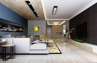 现代混搭风格客厅装修效果图