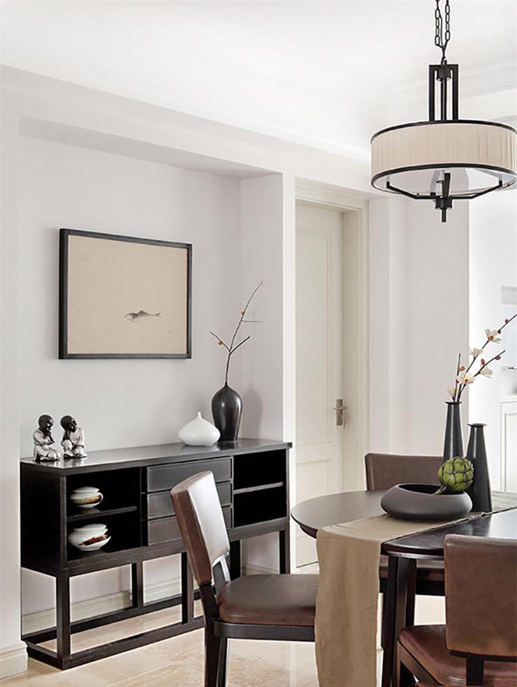 简约中式三居室装修餐边柜设计图