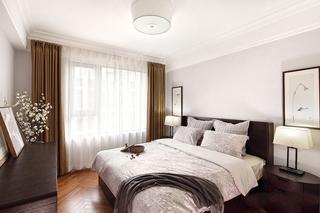 简约中式三居卧室装修效果图
