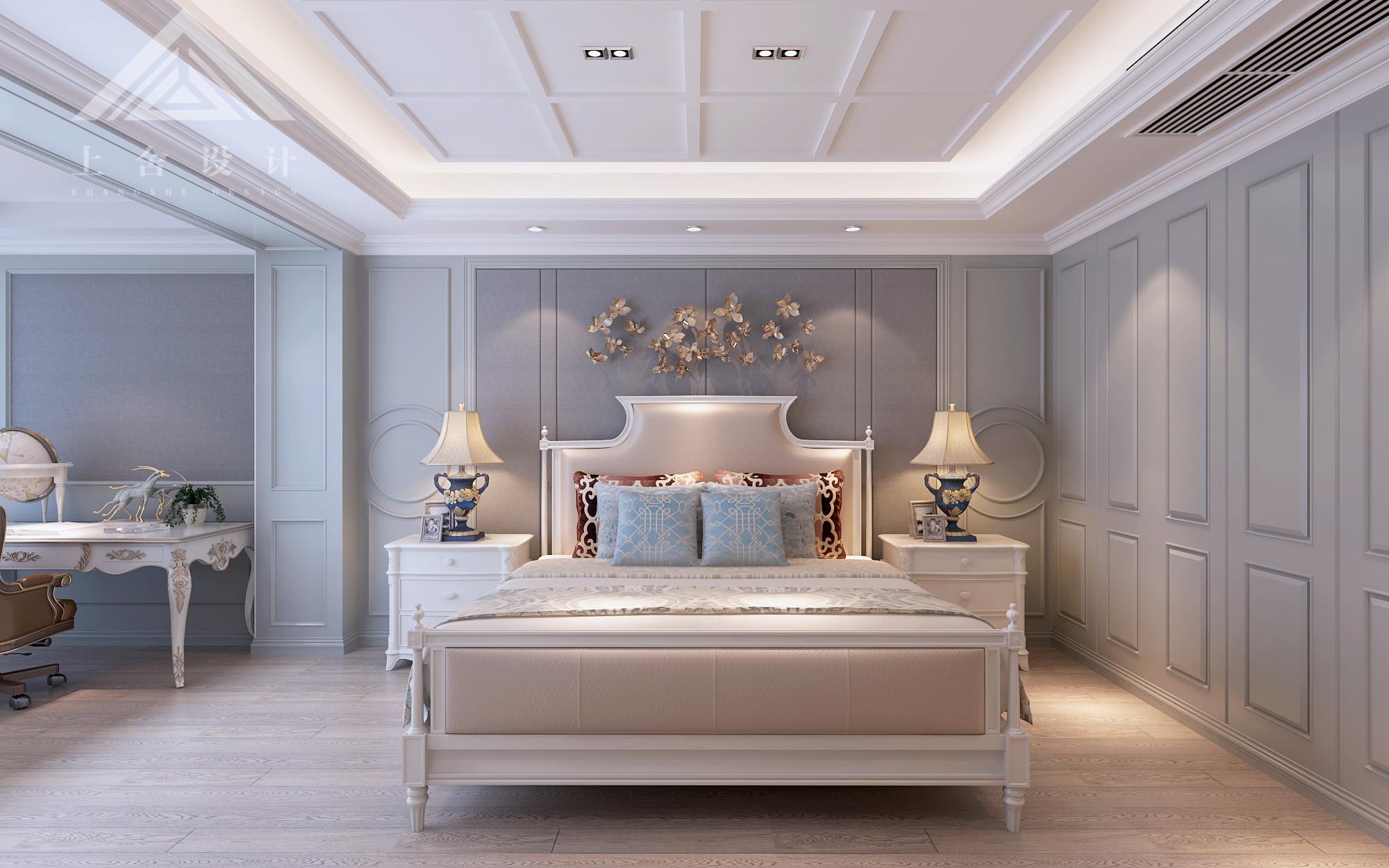 美式风格卧室背景墙装修效果图