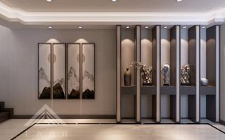 新中式玄关装修设计效果图