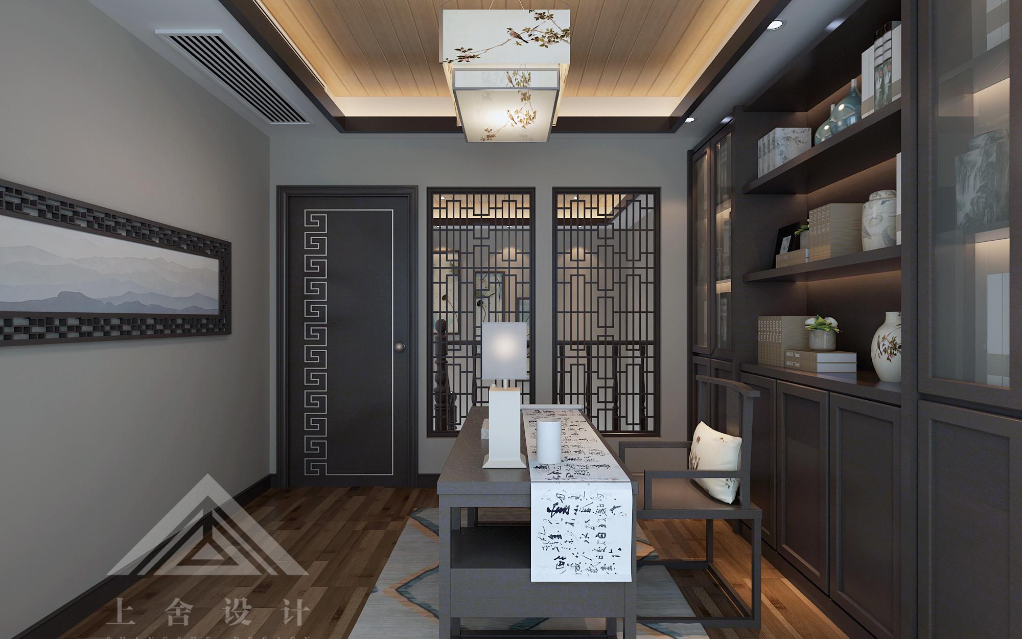 新中式书房装修设计效果图