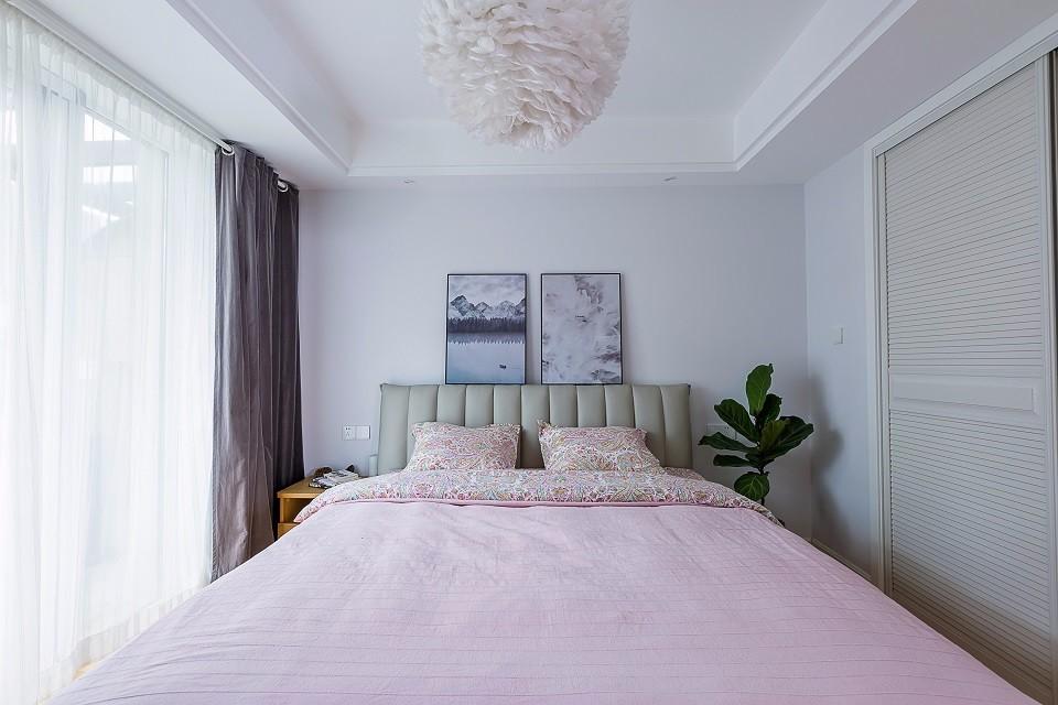 110平北欧风格卧室装修设计图