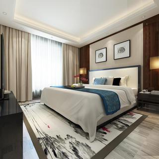 160平米中式风格卧室装修效果图