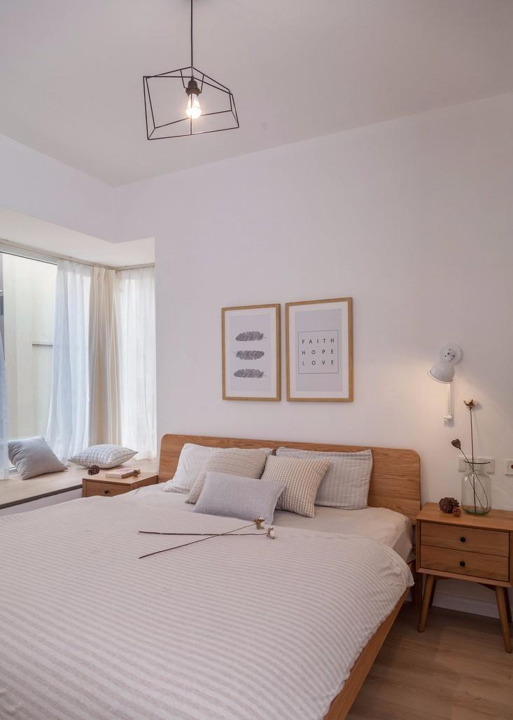 原木北欧风卧室装修设计图