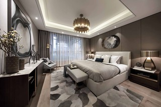 现代中式风格卧室装修设计图