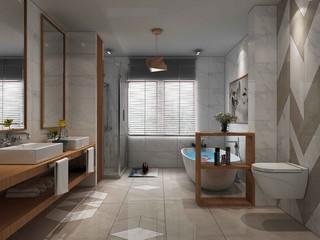 素雅中式风格卫生间装修效果图