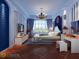 地中海三居卧室每日首存送20