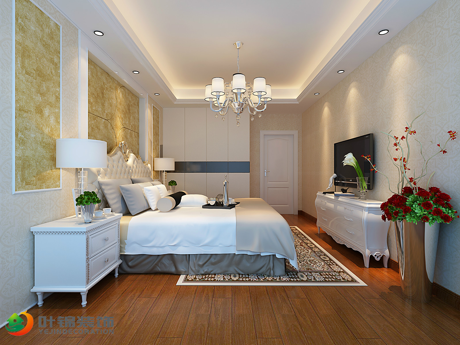 欧式风格二居卧室装修效果图