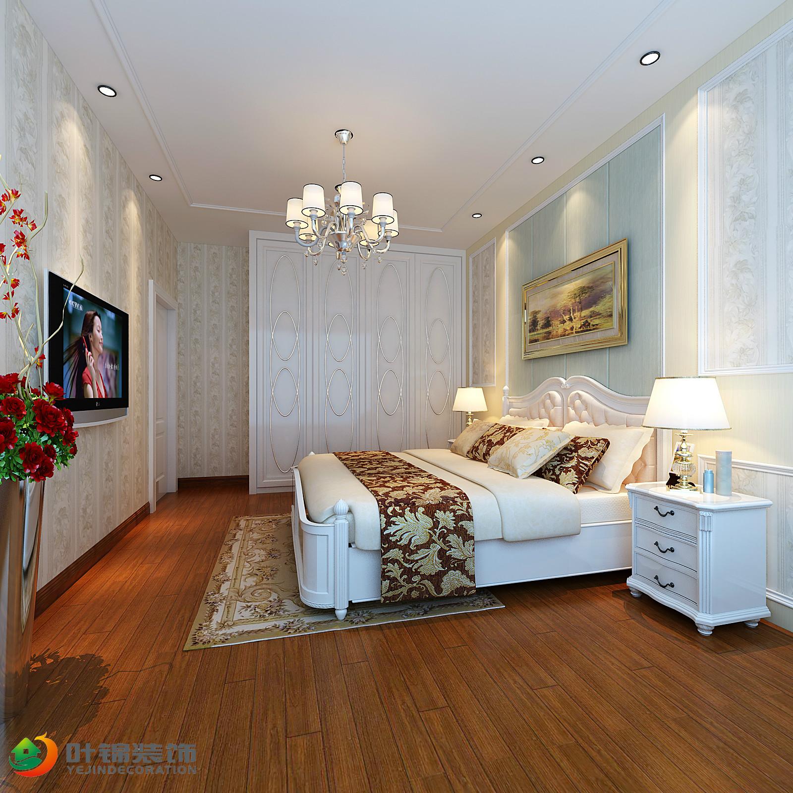 欧式风格二居卧室装修设计图