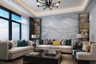 中式风格两居客厅装修效果图