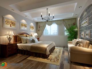 美式田园风格卧室装修效果图
