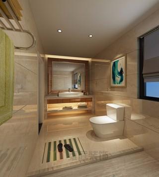 现代简约风格公寓卫生间装修效果图