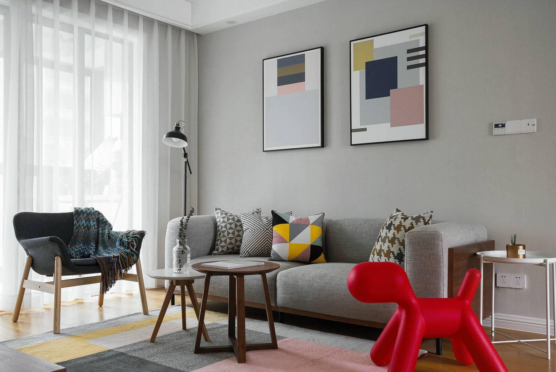 118平北欧风格沙发背景墙装修效果图