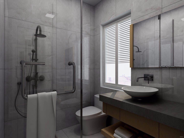 现代简约灰色卫生间装修效果图