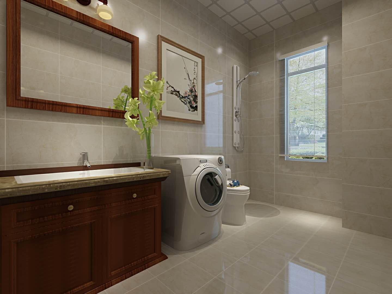 中式风格两居室卫生间装修效果图
