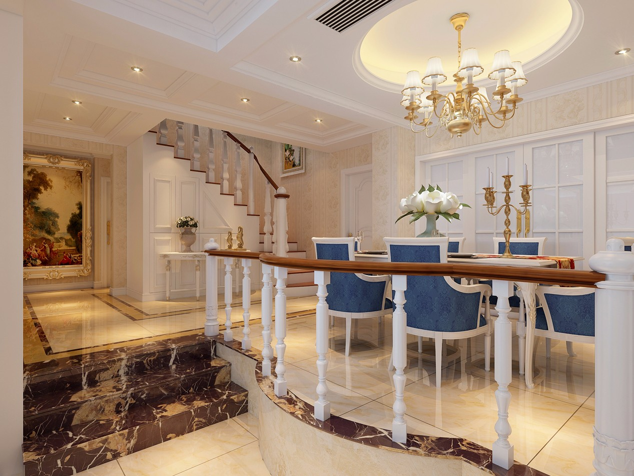 奢华欧式风格餐厅装修效果图