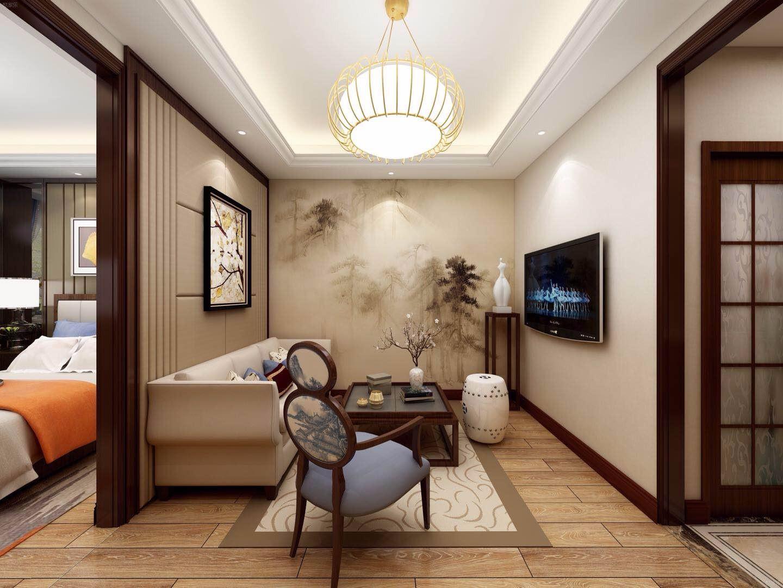 新中式风格公寓客厅装修效果图