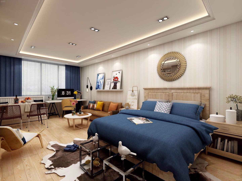 北欧单身公寓卧室装修效果图