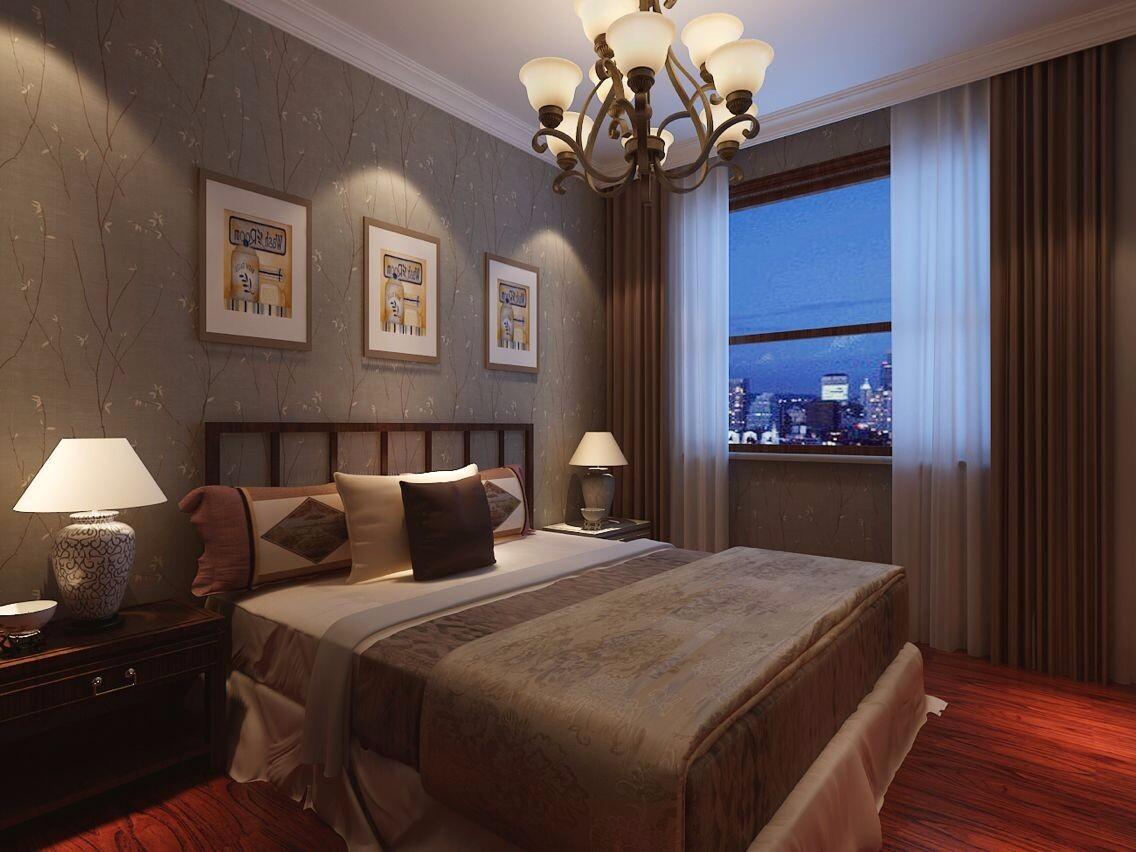 古典风格三居卧室装修效果图
