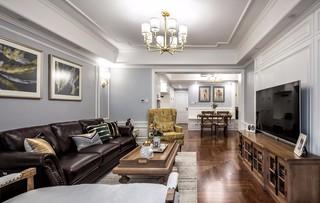美式三居室装修设计效果图