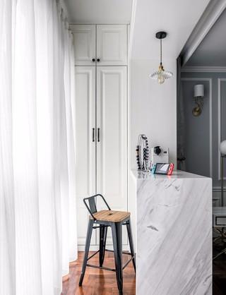 美式三居室装修阳台吧台设计效果图