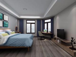 96平米简约风格卧室装修效果图