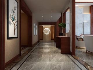 现代中式风格走廊装修效果图
