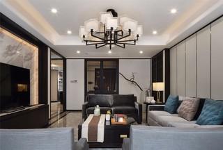 中式风格三居客厅装修效果图
