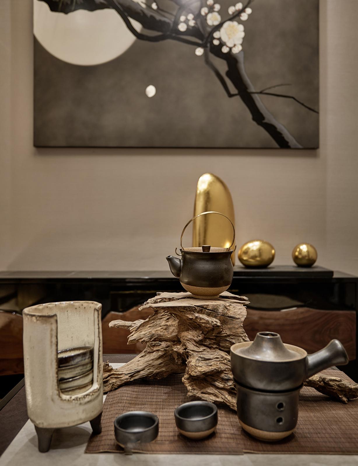 中式豪华大户型茶室装修效果图