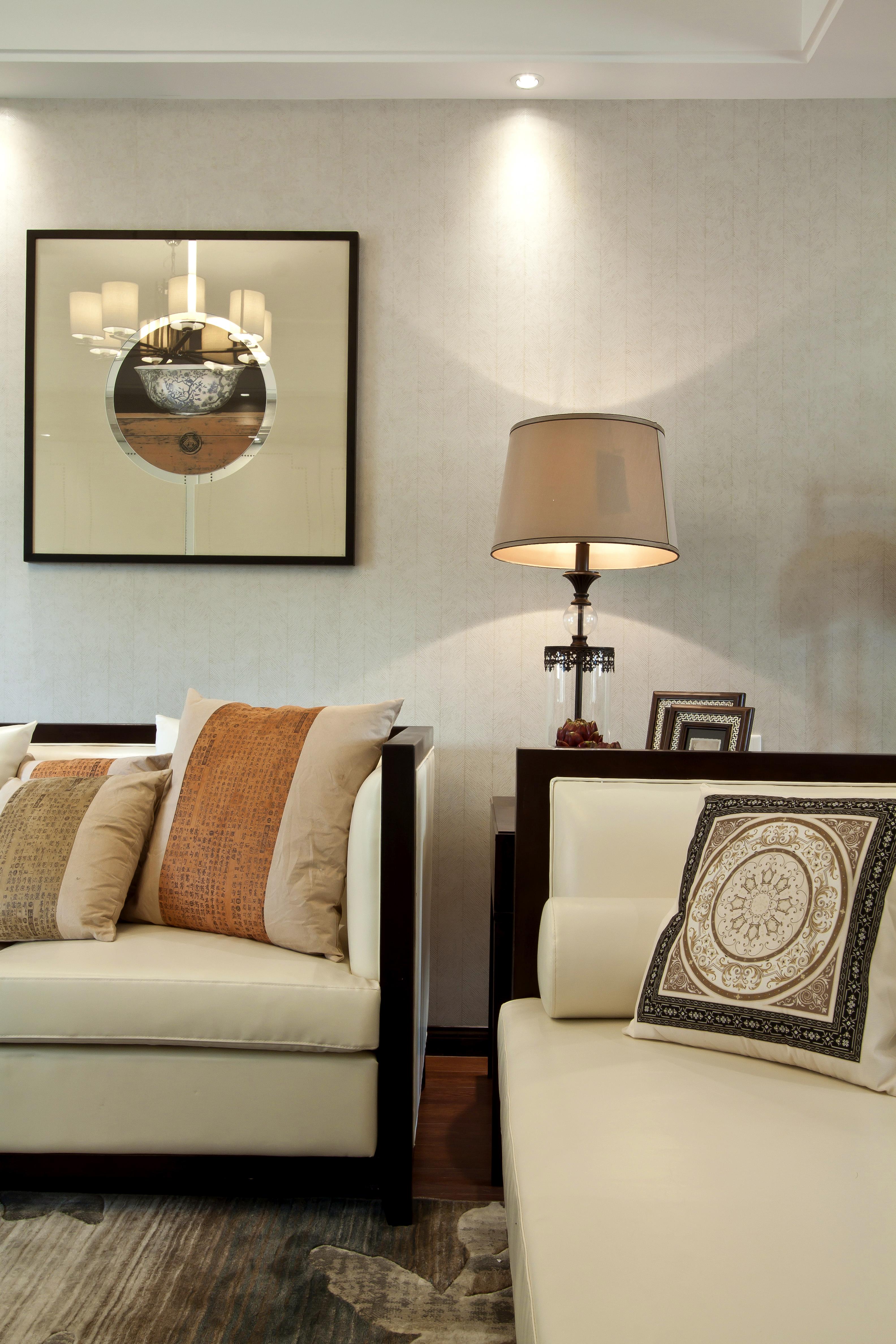 新中式风格沙发一隅装修效果图