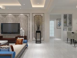 新中式客厅过道装修效果图