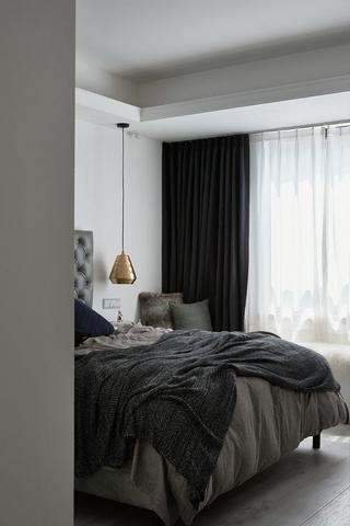 黑白北欧风二居卧室装修效果图