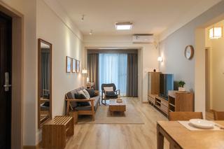 日式风格两居室装修电视柜设计图
