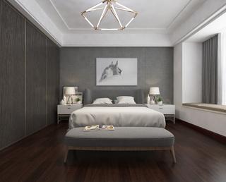 现代简约高级灰卧室装修效果图