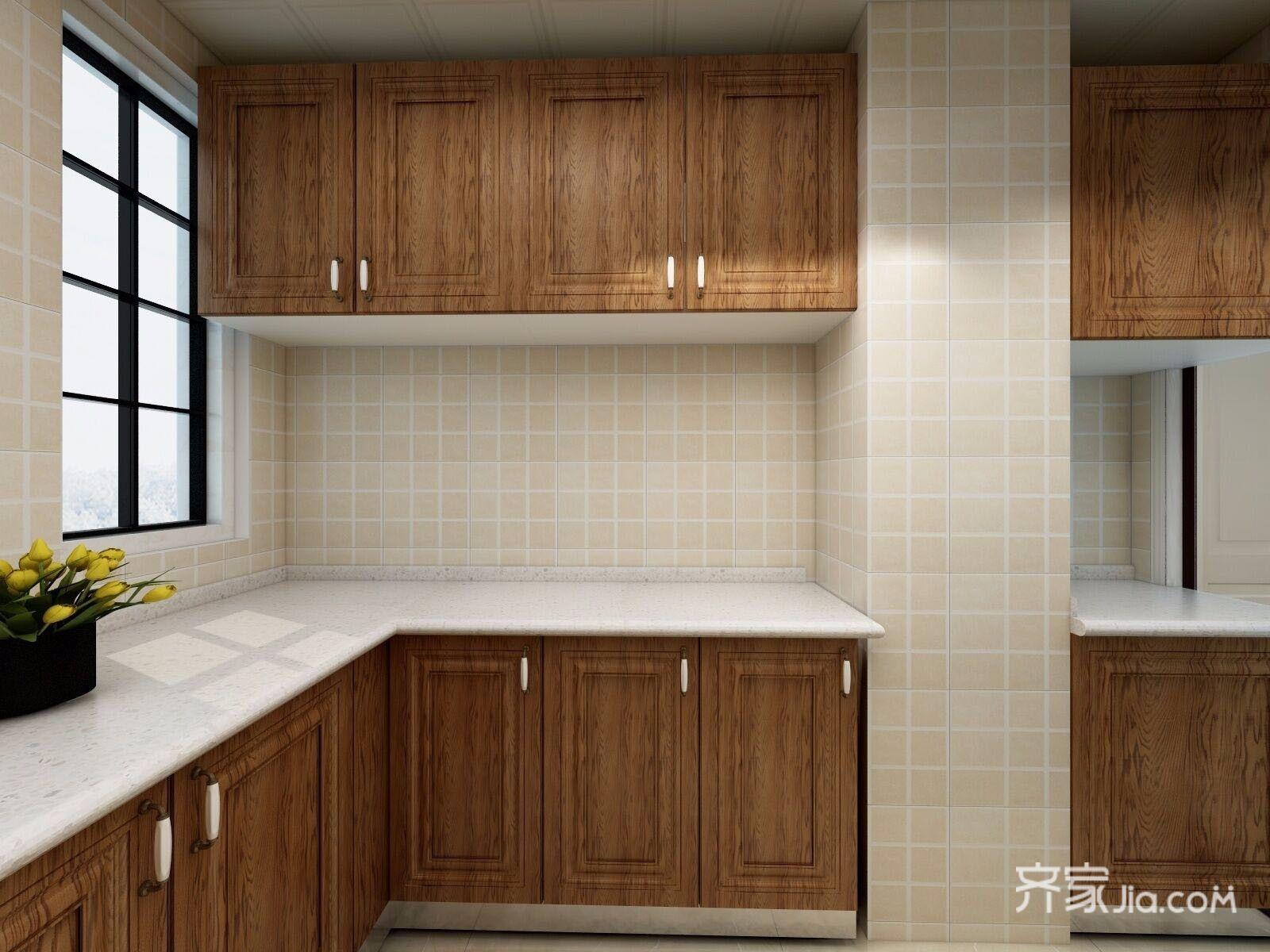 140平美式三居室裝修櫥柜設計圖