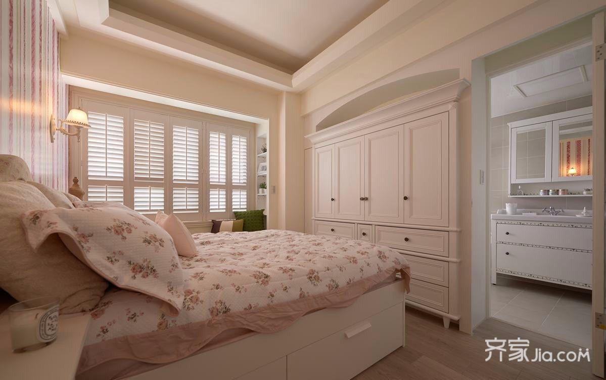 120平田园风格卧室装修效果图