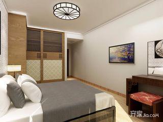 现代简约中式卧室装修效果图