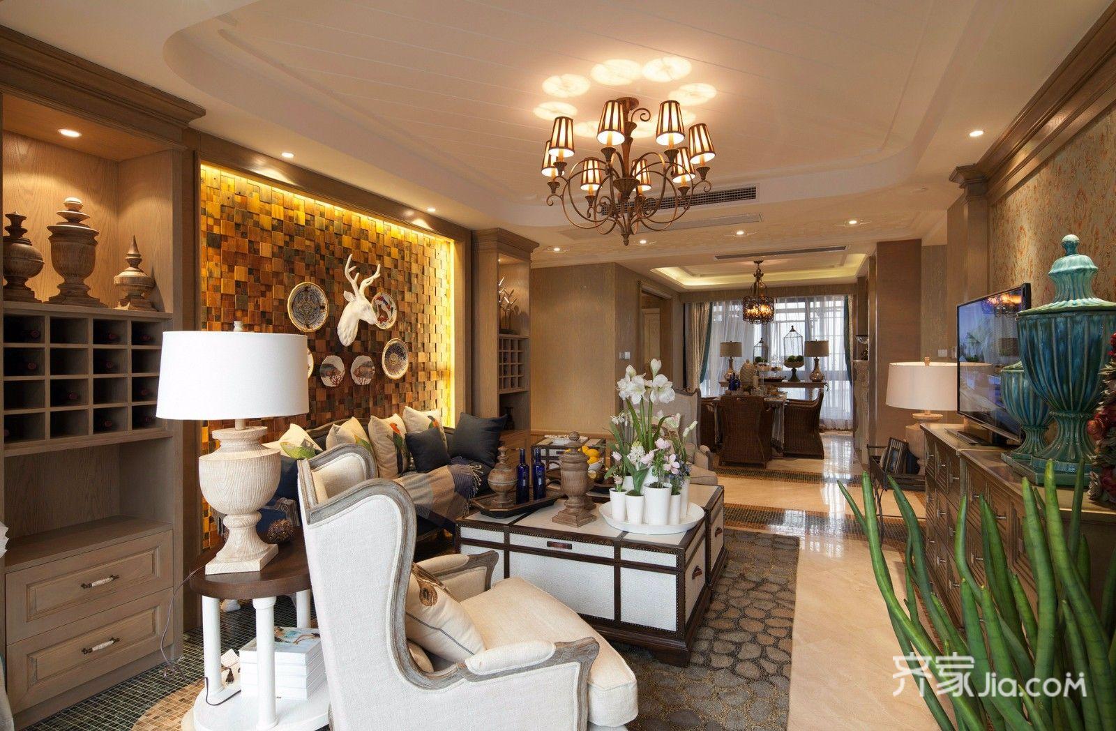 115㎡东南亚风格客厅每日首存送20