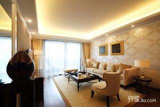 歐式風格三居室客廳裝修效果圖