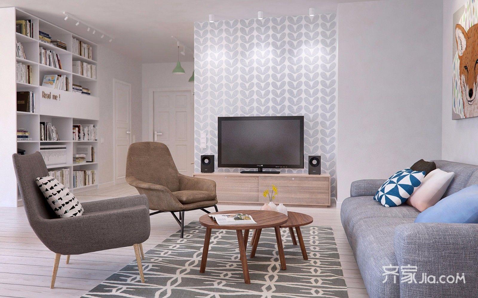 北欧宜家风格客厅装修效果图