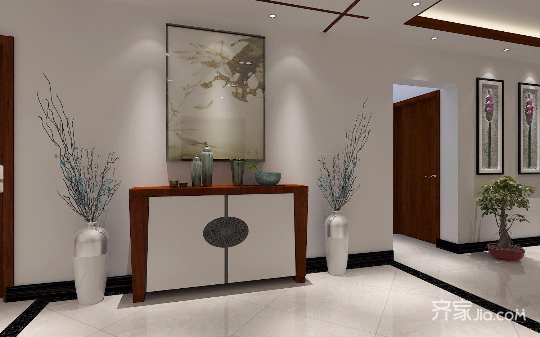 140㎡新中式风格门厅装修效果图