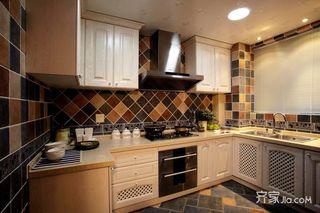 地中海混搭三居厨房装修效果图