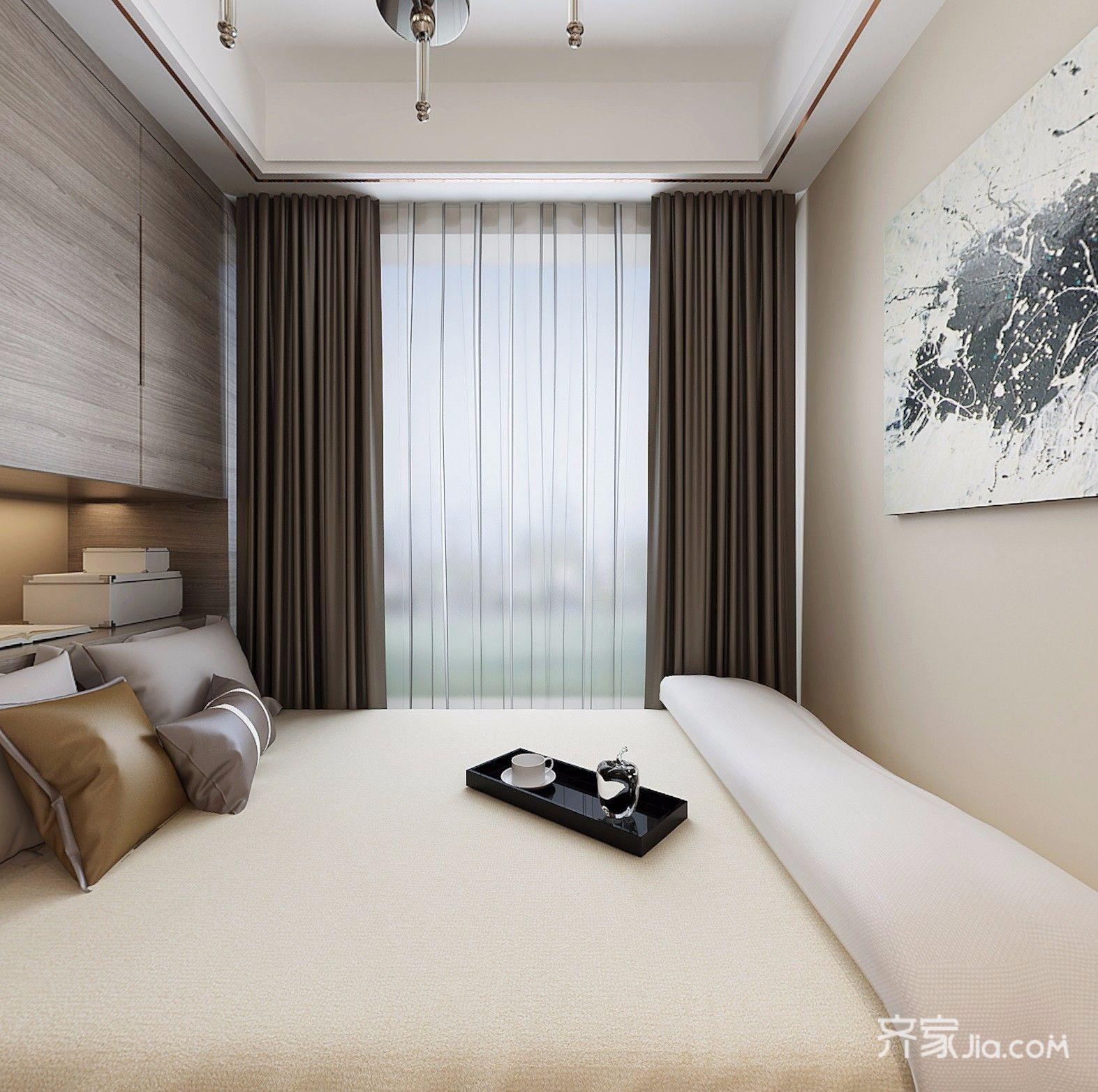108平现代简约卧室装修效果图