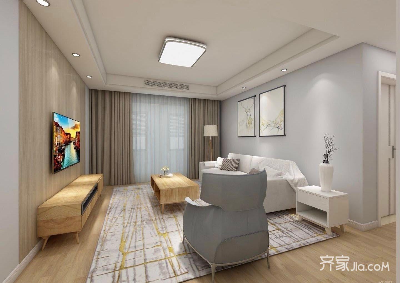 115平米二居室客厅装修效果图