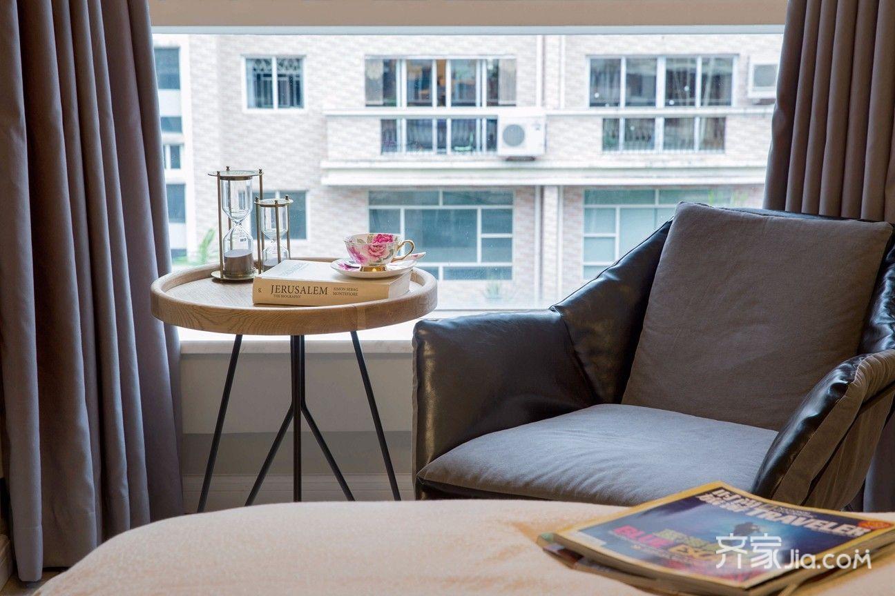 大户型复式美式装修卧室休闲一角