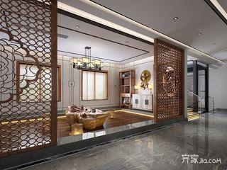中式风格大户型别墅茶室装修效果图