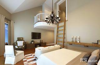 美式风格复式别墅卧室装修效果图