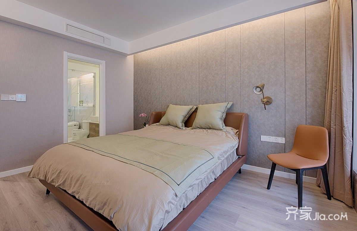 120平现代简约三居卧室装修效果图